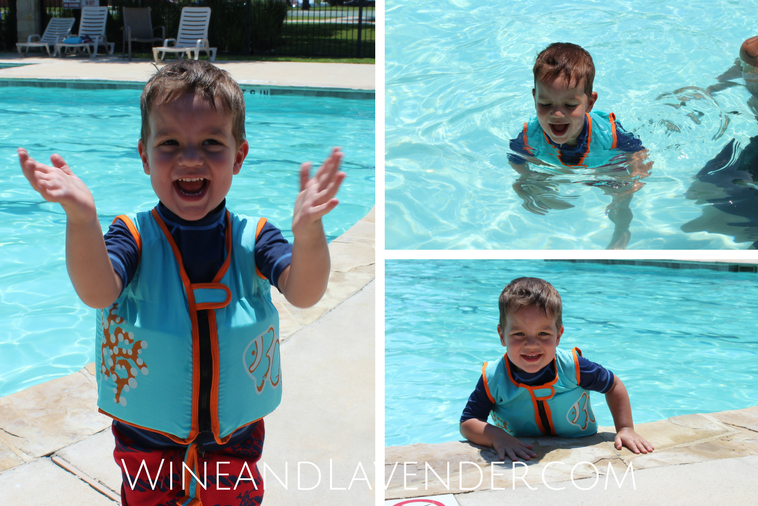 Swimming with toddlers can be fun, but it can also be scary for parents. Keep your child safe in the pool with this swim vest from SwimWays. Find out how we used it here.