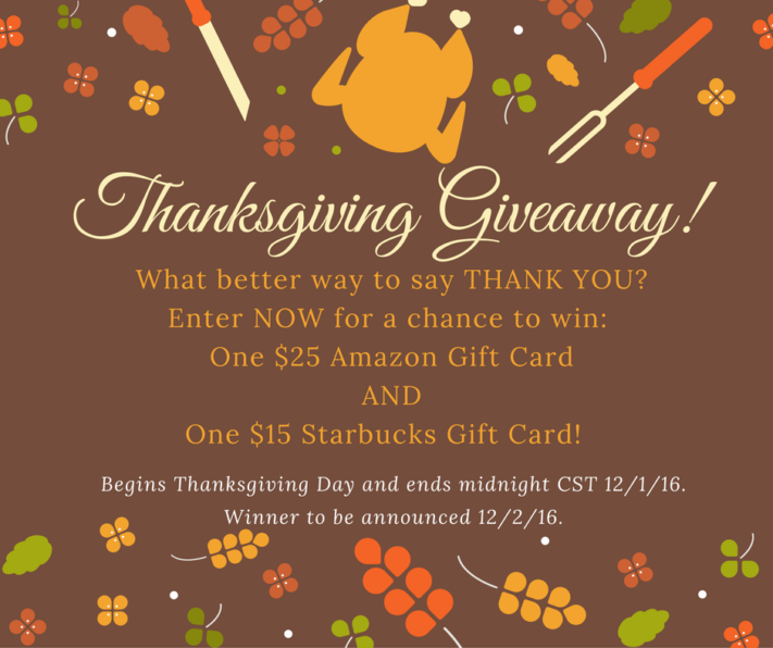 Thanksgiving Giveaway!!