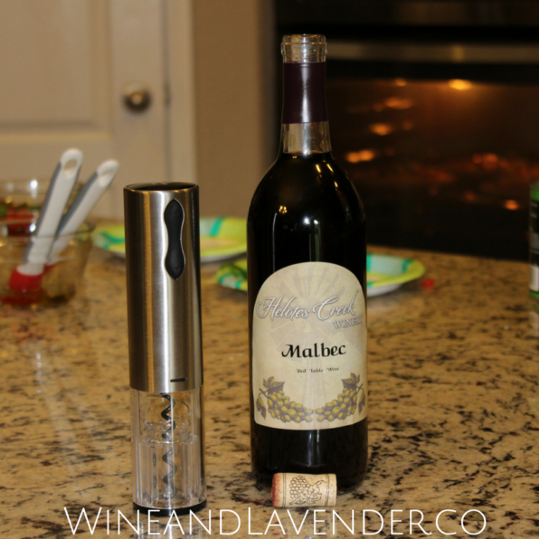 After a fun pizza-making activity with the kids, Pampered Chef's wine bottle opener helped to open the wine for adults! Learn more about the personalized pizza stone activity for kids. Click here.