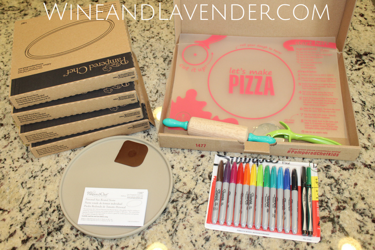 Pampered Chef Kids Pizza Set- a great activity for kids to personalize their own pizza stones. Click here for more information.