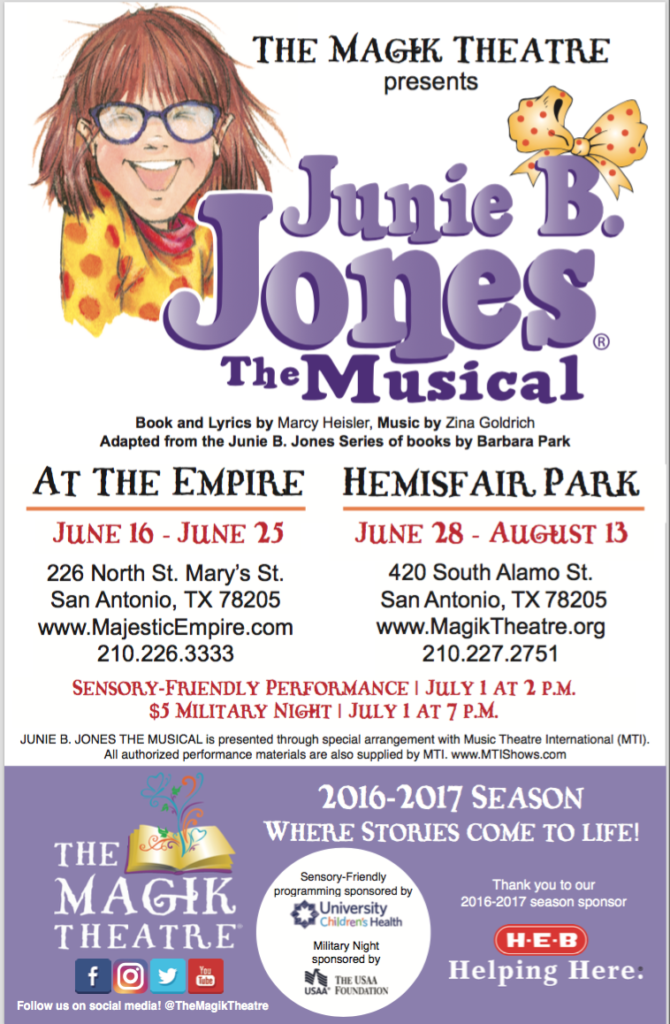 Find out why parents and kids love the Junie B Jones Books and enter for a chance to win tickets to Junie B Jones The Musical!! More details and activities here: