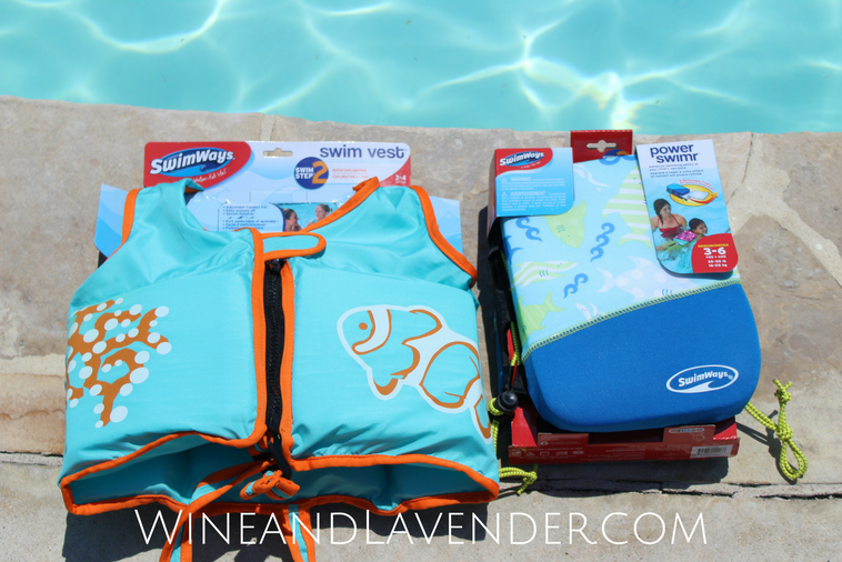 If you're swimming with kids this summer, staying safe is every parents concern. These swim vests and pool equipment from SwimWays are are the best water safety tools you can have! Check out how we used them here.