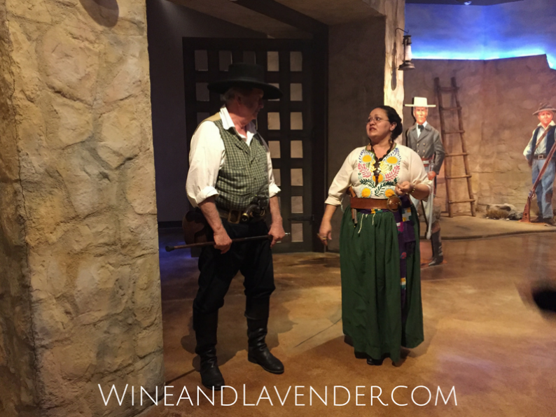 Actors from the Battle for Texas exhibition in San Antonio, Texas bring you through the experience by providing you with the history and emotions of the time. Check it out here.