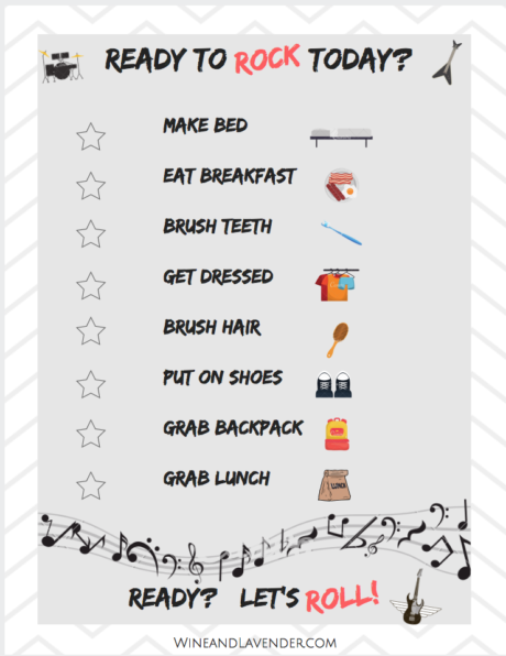 Ready to rock your kid's morning routine? Here's a few tips, ideas, and a free printable checklist to get you started! Click here.