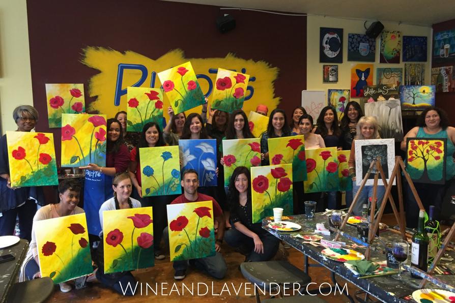 7 fun date night ideas in san antonio wine and lavender for Wine and paint san antonio