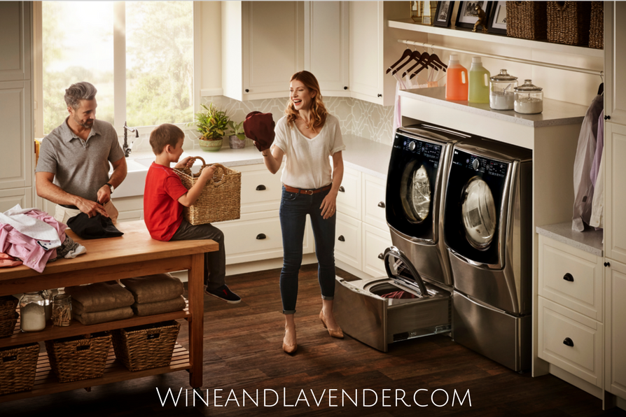 Find out why the LG TwinWash System with the Sidekick is great for families and how you can save time and money! Click here.